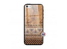 Coque iPhone 5/5S/SE Aztec Deco Verre Trempe