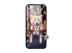 Coque iPhone 5/5S/SE Cat Nasa Verre Trempe