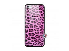 Coque iPhone 5/5S/SE Pink Leopard Style Verre Trempe