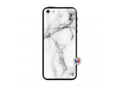 Coque iPhone 5/5S/SE White Marble Verre Trempe