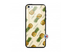 Coque iPhone 5/5S/SE Sorbet Ananas Verre