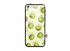 Coque iPhone 5/5S/SE Sorbet Kiwi Verre
