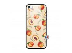 Coque iPhone 5/5S/SE Sorbet Pêche Verre
