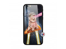 Coque iPhone 6/6S Cat Pizza Verre Trempe