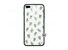 Coque iPhone 7 Plus/8 Plus Le Monde Entier est un Cactus Verre Trempe