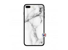 Coque iPhone 7 Plus/8 Plus White Marble Verre Trempe