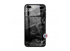 Coque iPhone 7 Plus/8 Plus Black Marble Verre Trempe