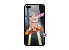Coque iPhone 7 Plus/8 Plus Cat Pizza Verre Trempe
