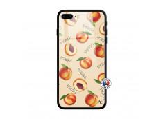 Coque iPhone 7 Plus/8 Plus Sorbet Pêche Verre