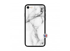 Coque iPhone 7/8 White Marble Verre Trempe