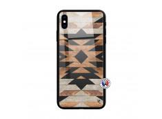 Coque iPhone X/XS Aztec Verre Trempe