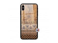 Coque iPhone X/XS Aztec Deco Verre Trempe