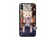 Coque iPhone X/XS Cat Nasa Verre Trempe