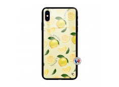 Coque iPhone X/XS Sorbet Citron Verre Trempe