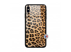 Coque iPhone X/XS Leopard Style Verre Trempe