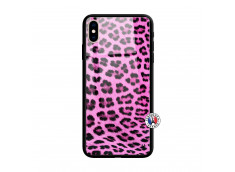 Coque iPhone X/XS Pink Leopard Style Verre Trempe