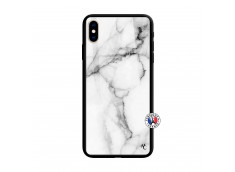 Coque iPhone X/XS White Marble Verre Trempe