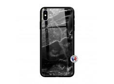 Coque iPhone X/XS Black Marble Verre Trempe