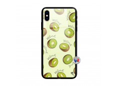 Coque iPhone X/XS Sorbet Kiwi Verre