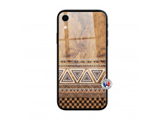Coque iPhone XR Aztec Deco Verre Trempe
