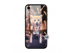 Coque iPhone XR Cat Nasa Verre Trempe