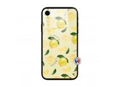 Coque iPhone XR Sorbet Citron Verre Trempe