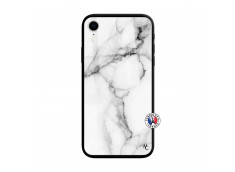 Coque iPhone XR White Marble Verre Trempe