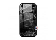 Coque iPhone XR Black Marble Verre Trempe