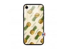Coque iPhone XR Sorbet Ananas Verre