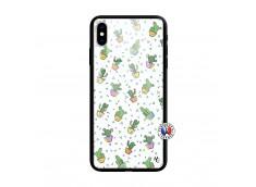 Coque iPhone XS MAX Le Monde Entier est un Cactus Verre Trempe