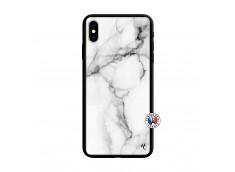 Coque iPhone XS MAX White Marble Verre Trempe