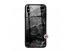 Coque iPhone XS MAX Black Marble Verre Trempe