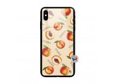 Coque iPhone XS MAX Sorbet Pêche Verre