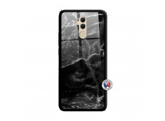 Coque Huawei Mate 20 Lite Black Marble Verre Trempe