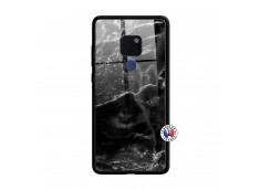 Coque Huawei Mate 20 Black Marble Verre Trempe