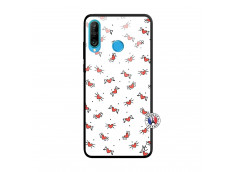 Coque Huawei P30 Lite Cartoon Heart Verre Trempe