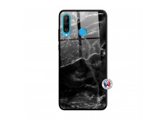 Coque Huawei P30 Lite Black Marble Verre Trempe