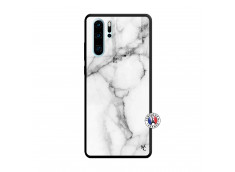 Coque Huawei P30 PRO White Marble Verre Trempe