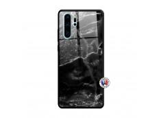 Coque Huawei P30 PRO Black Marble Verre Trempe