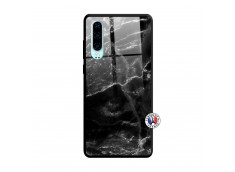 Coque Huawei P30 Black Marble Verre Trempe