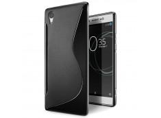 Coque Sony Xperia XA1 Silicone Grip-Noir