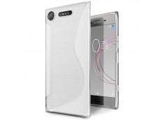 Coque Sony Xperia XZ1 Silicone Grip-Translucide