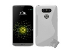 Coque LG G5 Silicone Grip-Blanc