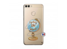 Coque Huawei P Smart Globe Trotter