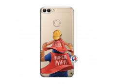 Coque Huawei P Smart Super Papa et Super Bébé