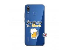 Coque Huawei P20 Lite Jamais Sans Ma Blonde