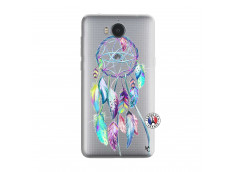 Coque Huawei Y6 2017 Blue Painted Dreamcatcher