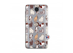 Coque Huawei Y6 2017 Cat Pattern