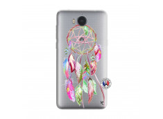 Coque Huawei Y6 2017 Pink Painted Dreamcatcher