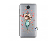 Coque Huawei Y6 2017 Puppies Love